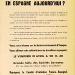 Tract que se passe-t-il en Espagne aujourd'hui 1952