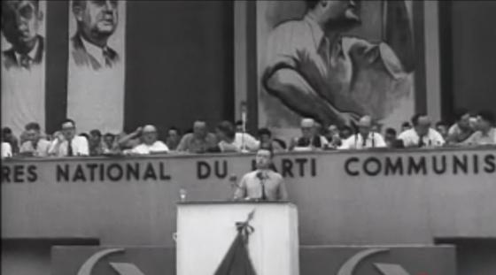Etienne Fajon (ici lors du congrès PCF de 1947)