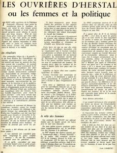 Femmes Herstal Grève usine armement 1966