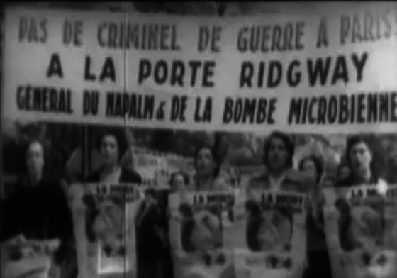 Manifestation contre la venue de Ridgeway 1952
