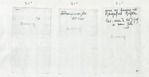 verso Fiches remplies par Mushim Plocki et Rywka Drany indiquant le convoi du 27 juillet 1942 Auschwitz