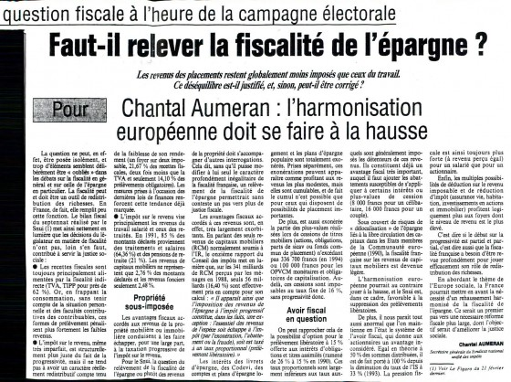 Article Le Figaro - Vendredi 17 mars 1995 - La vie des idées