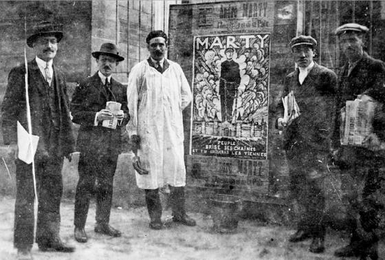 affiche en faveur d'André Marty dans la circonscription d'Ivry-Choisy-le-Roi pour les élections au conseil d'arrondissement de Sceaux en 1923 - Fonds photo CHS
