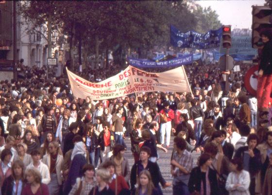 Manif pour pérennisation droit à l'avortement 1979