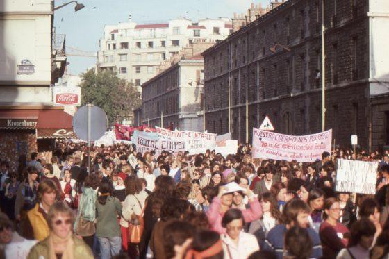 Manifestation femmes à Paris, octobre 1979
