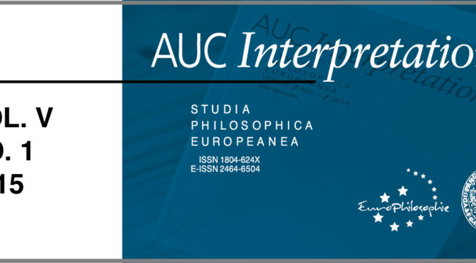 AUC Interpretationes – Vol. V / No. 1 / 2015