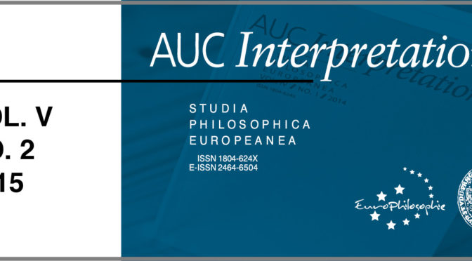 AUC Interpretationes – Vol. V / No. 2 / 2015