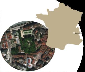 Plan de Situation, Jardin de Ville