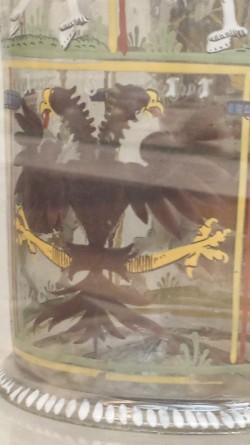 Humpen von 1611: Der Reichsadler (Detail).