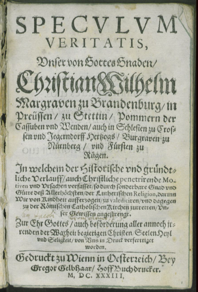 speculum veritatis 1633
