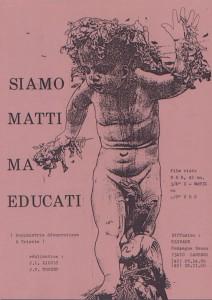 """Présentation du film """"Siamo matti ma educati"""" réalisé par le collectif Clivage en 1979."""