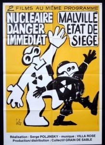 """Affiche """"Nucléaire danger immédiat"""" et """"Malville état de siège"""""""