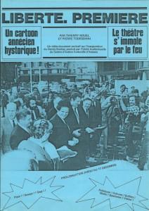 """Tract annonçant la diffusion de """"Liberté Première"""" (1981)"""