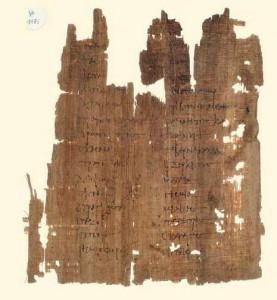 BNU. Papyrus grec 1173. Papyrus bilingue.