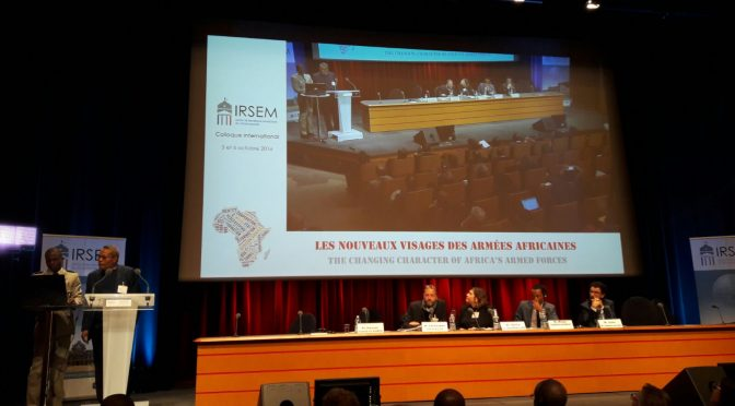 Dr Hassan Elhaj Ali's participation to the conference «The changing character of Africa's armed forces» held by IRSEM (Paris)
