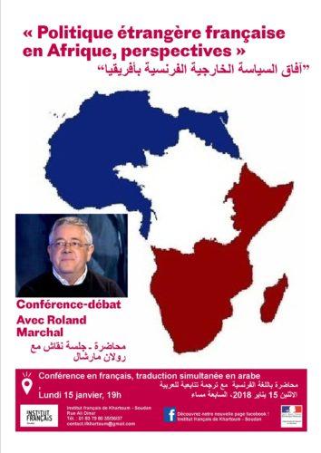 Conférence de Roland Marchal « Politique étrangère française en Afrique, perspectives»