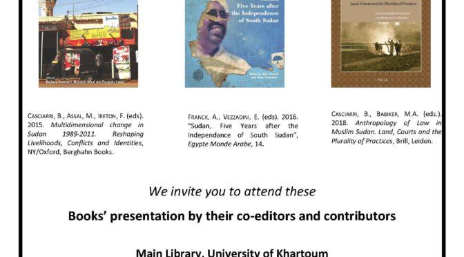 Books Presentations on Contemporary Sudan – University of Khartoum