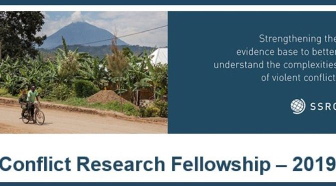 Conflict Research Fellowship
