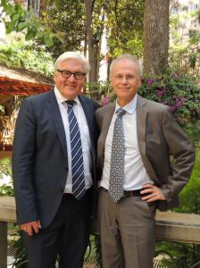 Außenminister Frank Walter Steinmeier und Stefan Leder, Direktor des Orient-Instituts Beirut