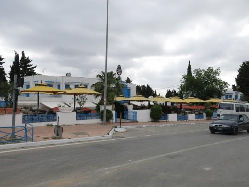 zone de restaurants et de cafés à Sidi Bou Saïd