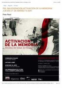 """Preview of """"FW- INAUGURACION ACTIVACION DE LA MEMORIA- JUEVES 21 DE MARZO 19.30H"""""""