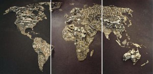 Vik Muniz, WWW (World Map), Pictures of Junk, 2008