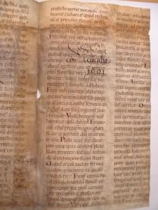 Recto-Seite 2 mit Beschriftung des Trägerbandes GStA Berlin, vorläufige Signatur XX. HA, Hs 86, Nr. 21 (Bild: Anette Löffler)