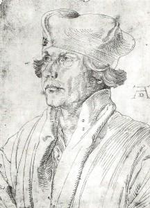 Kardinal Matthäus Lang (1468-1540), Federzeichnung, Albrecht Dürer, um 1518 (Wikimedia Commons)