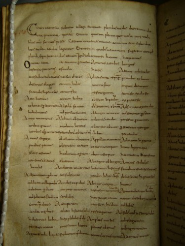 The opening of the second exemplar of the Synonyms of Cicero, fol. 139v