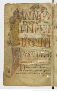 Fishy lady in a sacramentary from Gellone (Saint-Guilhem-le-Désert)