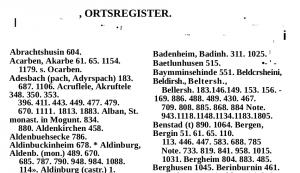 Abbildung 6: Ausschnitt aus dem Ergebnis der Digitalisierung des Registers mit Finereader