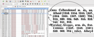 Abbildung 9: Schaubild zur Erstellung der Tabellenform des Registers aus den Einträgen in der gedruckten Fassung