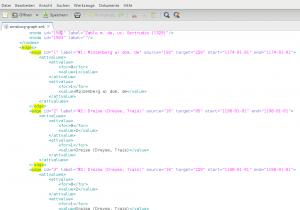 Abbildung 12: Abschnitt der XML-Datei, in der die Edges festgelegt werden