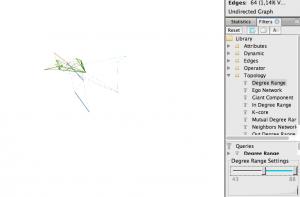 Abbildung 20: Netzwerk mit Degree-Range-Filter.
