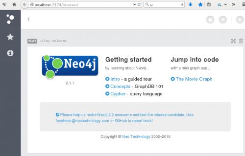 Abbildung 11: Webfrontend von Neo4j