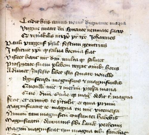 Abb. 11) Frühfassung des Dialogus super Magnificat des Johannes von Wetzlar (Zeitz, SB, Cat.pag.72, Nr. 22, 231r, Ausschnitt)