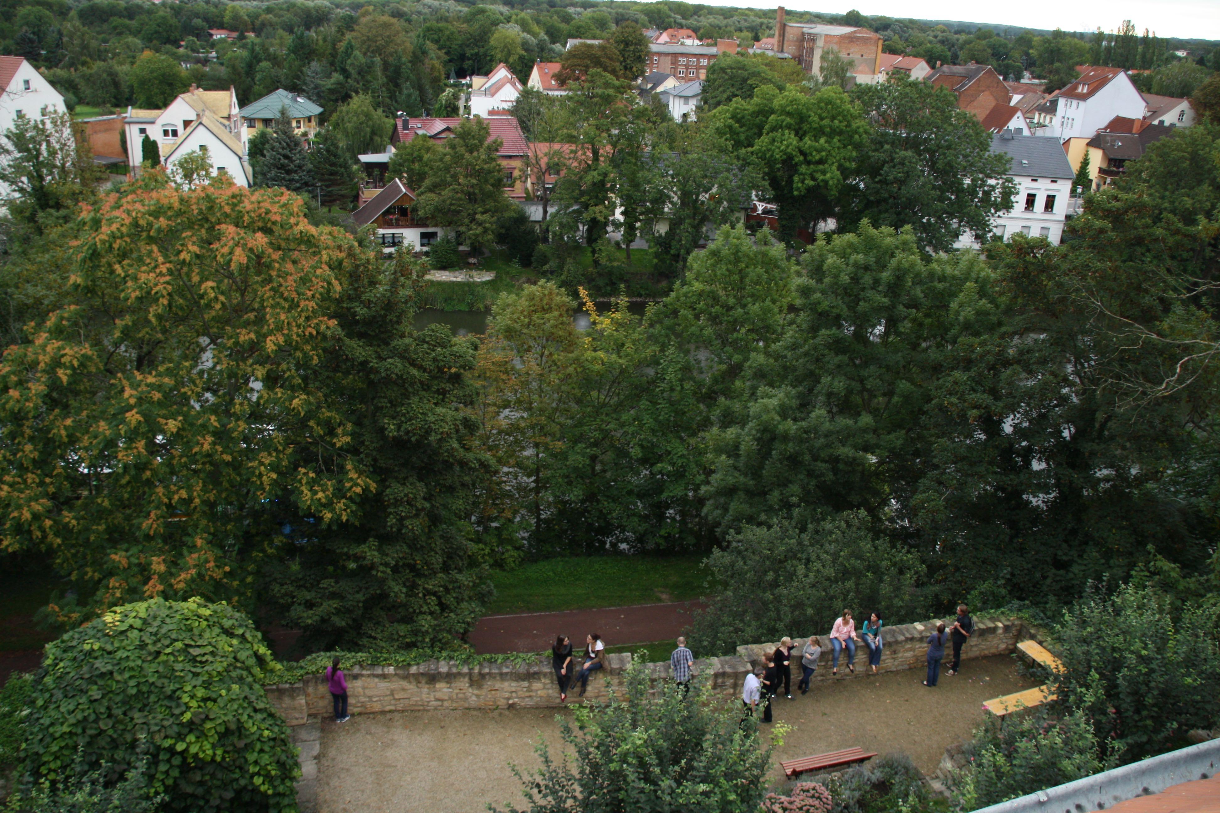 Aussicht vom Domstiftarchiv Merseburg