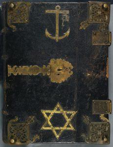 Vorderdeckel der Handschrift München, Staatsbibl., Cgm 8470. Bayerische Staatsbibliothek München. Lizenz: CC BY-NC-SA 4.0