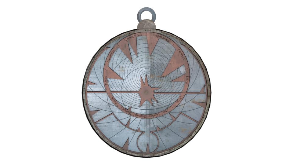 Bild 7: Gerenderte Vorderseite des Astrolab (eigenes Werk)