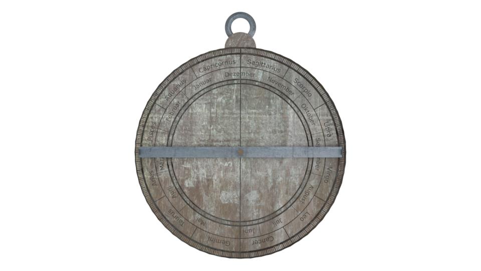 Bild 8: Gerenderte Rückseite des Astrolab (eigenes Werk)
