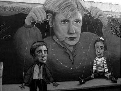 Merkel Puppenspiel
