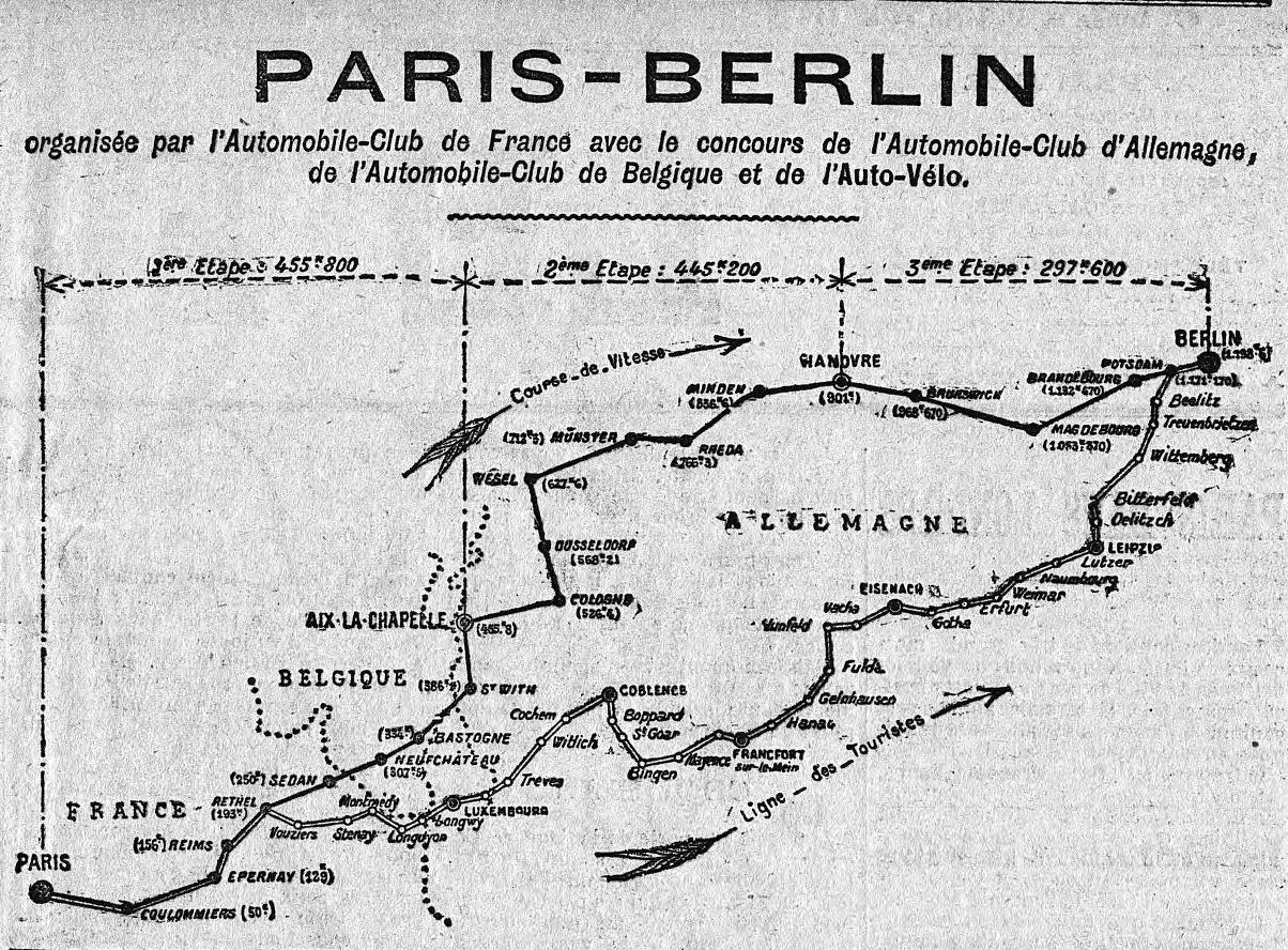 Paris-Berlin Strecke