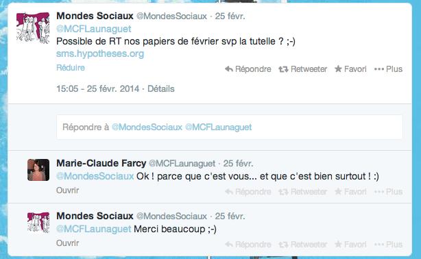 Interaction avec la chargée des relations publiques Université Toulouse lI Le Mirail.