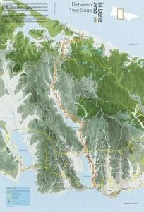 Itinéraire emprunté par le projet 2 deniz arası