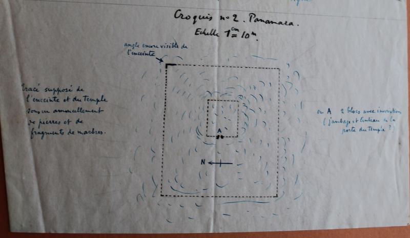 Croquis n°2 : Panamara. Dessin d'A. Laumonier, archives de l'IFEA.
