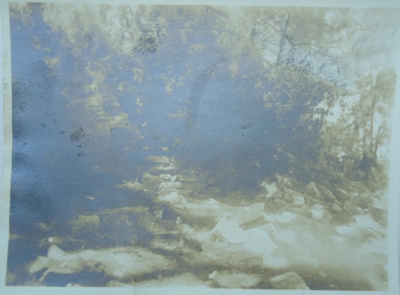 Angle du téménos de Panamara. Photo d'A. Laumonier, archives de l'IFEA.