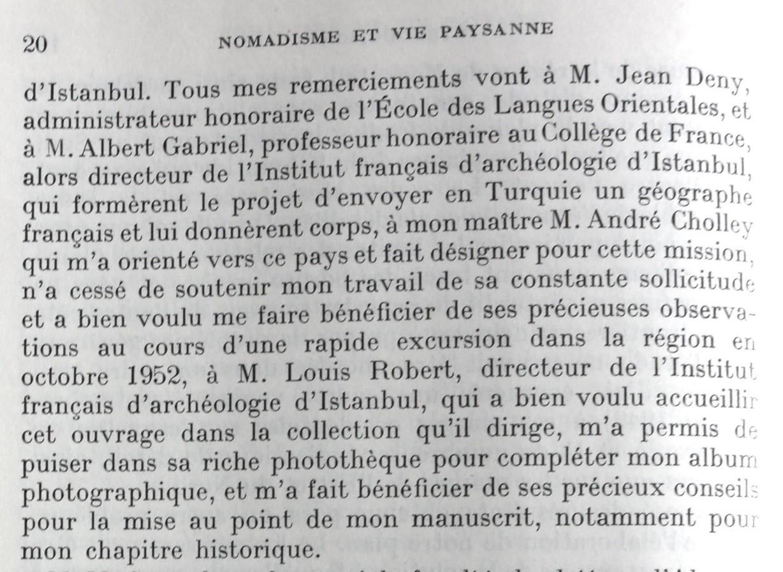 Extrait de l'introduction de la thèse (1958, p. 20)