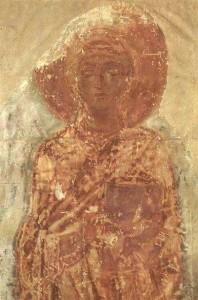 Sainte Thècle, fresque du 11ème siècle