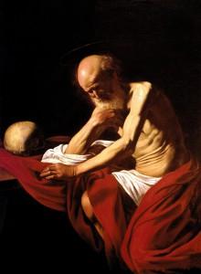 Saint Jérôme pénitent, Le Caravage (1606).