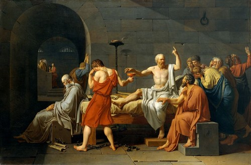 Jacques-Louis David, La mort de Socrate, 1787.